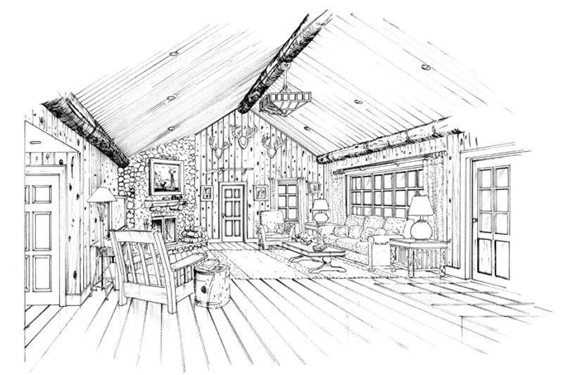 Craftsman Interior - Family Room Plan #942-19 - Houseplans.com