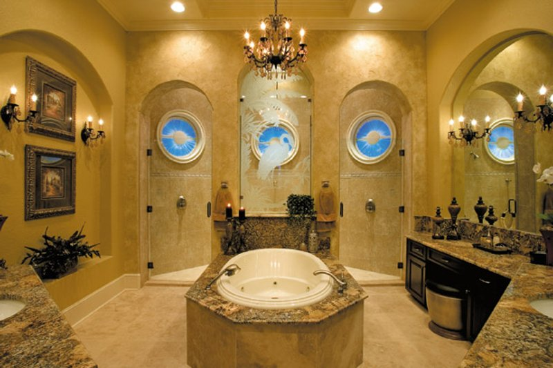 Mediterranean Interior - Master Bathroom Plan #930-355 - Houseplans.com