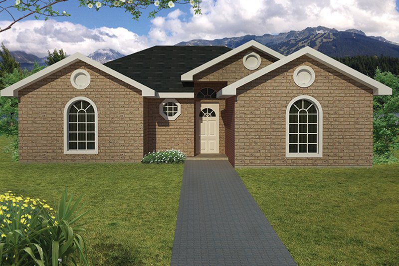Ranch Exterior - Front Elevation Plan #1061-18 - Houseplans.com