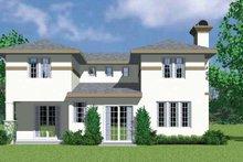 House Blueprint - Prairie Exterior - Rear Elevation Plan #72-1127