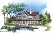Country Style House Plan - 4 Beds 3.5 Baths 2677 Sq/Ft Plan #929-75 Exterior - Rear Elevation
