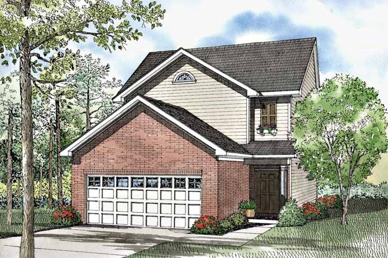 Architectural House Design - Country Exterior - Front Elevation Plan #17-3062