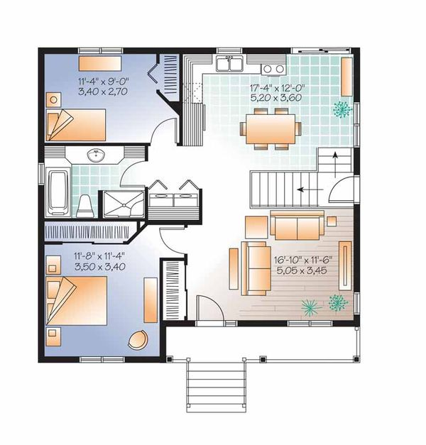 Dream House Plan - Country Floor Plan - Main Floor Plan #23-2519