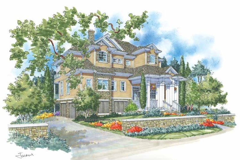 Traditional Exterior - Front Elevation Plan #930-114