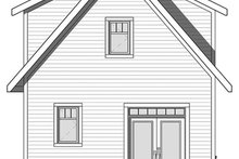 Craftsman Exterior - Rear Elevation Plan #23-2604