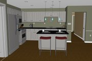 Contemporary Style House Plan - 3 Beds 2 Baths 1732 Sq/Ft Plan #126-185 Interior - Kitchen