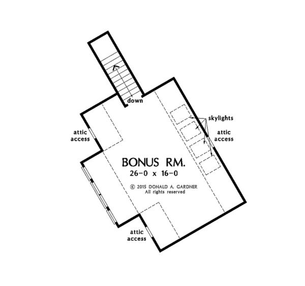 Ranch Floor Plan - Other Floor Plan Plan #929-1007