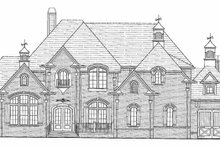Architectural House Design - Country Exterior - Rear Elevation Plan #54-297