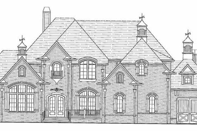 Country Exterior - Rear Elevation Plan #54-297 - Houseplans.com
