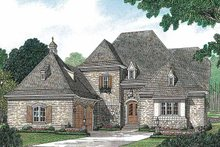 Home Plan - European Exterior - Front Elevation Plan #453-156