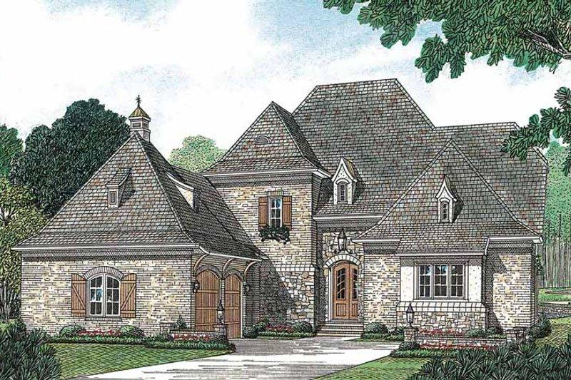 Dream House Plan - European Exterior - Front Elevation Plan #453-156