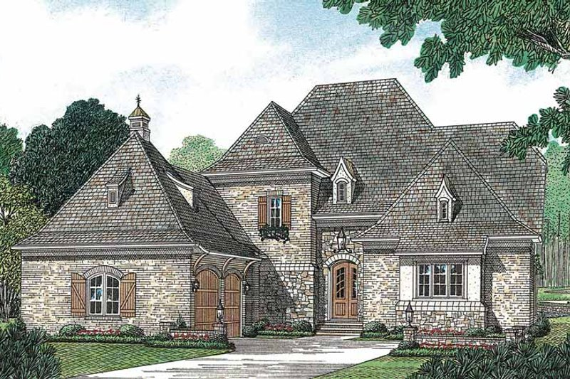 European Exterior - Front Elevation Plan #453-156