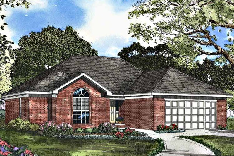Ranch Exterior - Front Elevation Plan #17-3107 - Houseplans.com