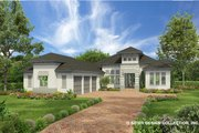 Contemporary Style House Plan - 4 Beds 5 Baths 3718 Sq/Ft Plan #930-477 Exterior - Front Elevation