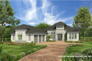 Contemporary Exterior - Front Elevation Plan #930-477