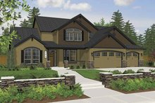 Architectural House Design - Craftsman Exterior - Front Elevation Plan #943-7