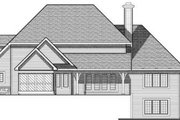 European Style House Plan - 4 Beds 3.5 Baths 3207 Sq/Ft Plan #70-641 Exterior - Rear Elevation