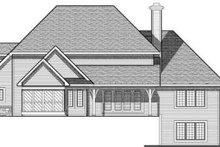 Home Plan - European Exterior - Rear Elevation Plan #70-641