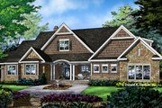 Craftsman Style House Plan - 4 Beds 3 Baths 2557 Sq/Ft Plan #929-997 Exterior - Front Elevation