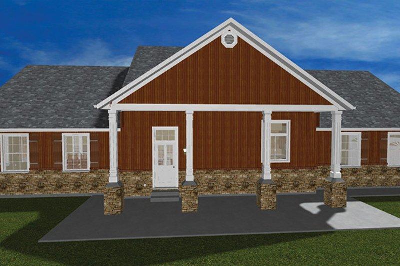 Ranch Exterior - Rear Elevation Plan #1060-23 - Houseplans.com