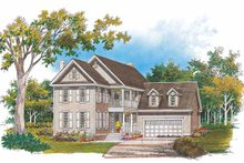 Classical Exterior - Front Elevation Plan #929-643