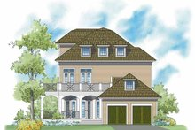 Classical Exterior - Rear Elevation Plan #930-400