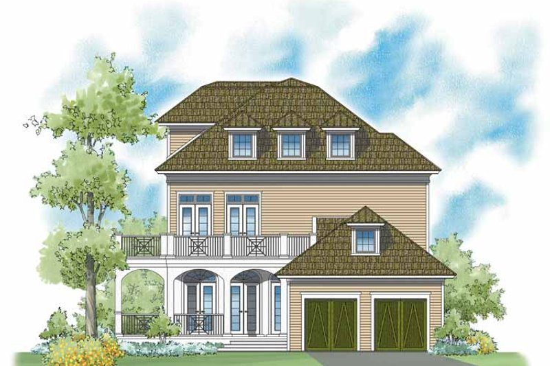 Classical Exterior - Rear Elevation Plan #930-400 - Houseplans.com