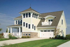 Country Exterior - Front Elevation Plan #928-98