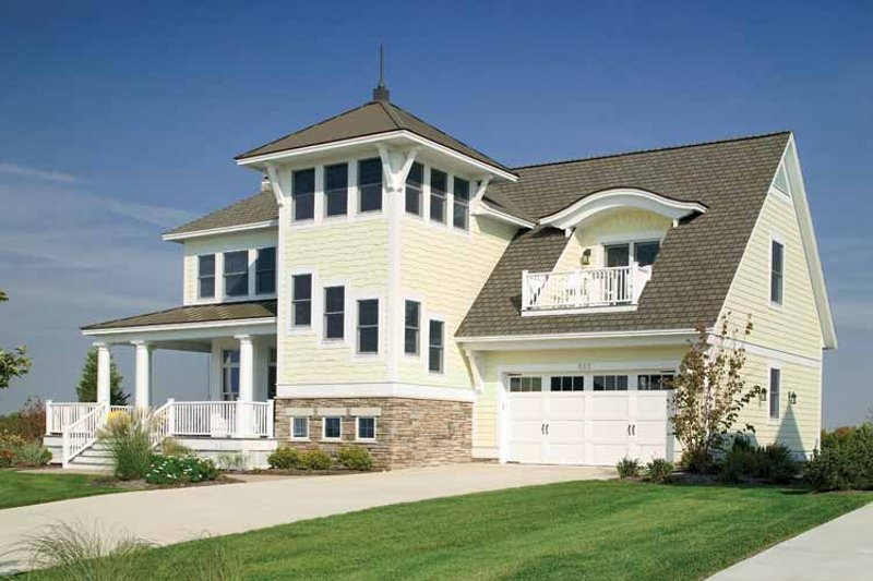 Country Exterior - Front Elevation Plan #928-98 - Houseplans.com