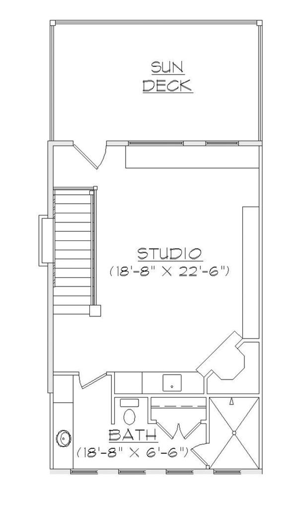 Craftsman Floor Plan - Upper Floor Plan Plan #945-140