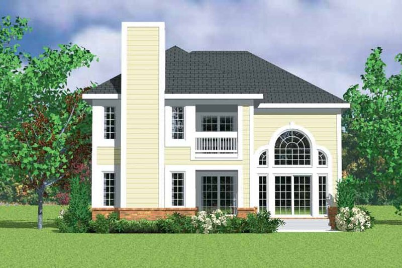 House Blueprint - Classical Exterior - Rear Elevation Plan #72-1085