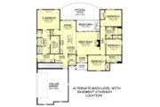 Traditional Style House Plan - 4 Beds 3 Baths 2160 Sq/Ft Plan #430-162 Floor Plan - Main Floor Plan