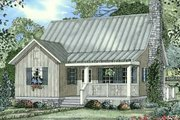Farmhouse Style House Plan - 2 Beds 2 Baths 1178 Sq/Ft Plan #17-2020 Exterior - Front Elevation