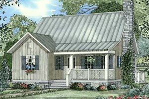Farmhouse Exterior - Front Elevation Plan #17-2020