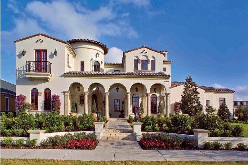 Mediterranean style house plan 6 beds 5 baths 6493 sq ft for Spanish villa house