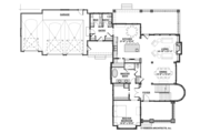 Traditional Style House Plan - 4 Beds 3.5 Baths 3677 Sq/Ft Plan #928-271 Floor Plan - Main Floor Plan