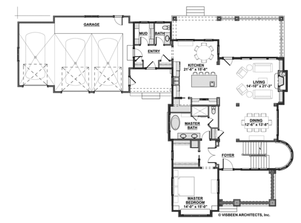 Traditional Floor Plan - Main Floor Plan Plan #928-271