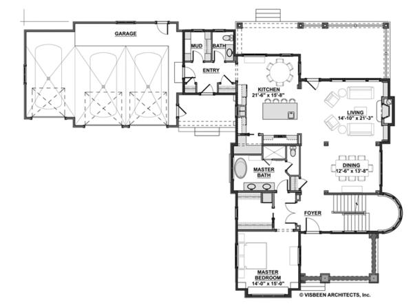 Traditional Floor Plan - Main Floor Plan Plan #928-271