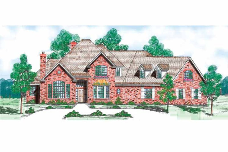 Traditional Exterior - Front Elevation Plan #52-267 - Houseplans.com