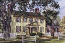 Colonial Exterior - Front Elevation Plan #137-349
