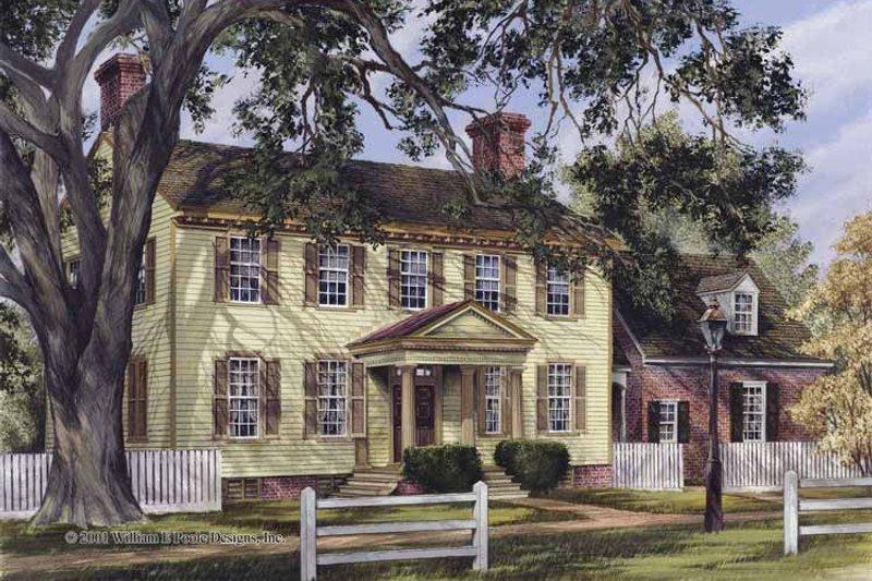 Colonial Exterior - Front Elevation Plan #137-349 - Houseplans.com