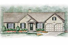 Dream House Plan - Ranch Exterior - Front Elevation Plan #54-239