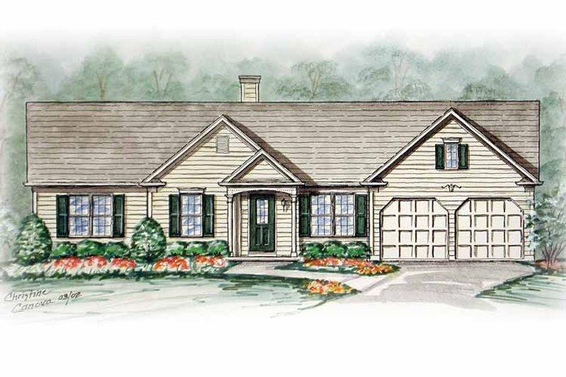 Ranch Exterior - Front Elevation Plan #54-239 - Houseplans.com