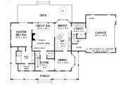 Country Style House Plan - 3 Beds 2.5 Baths 1991 Sq/Ft Plan #929-15 Floor Plan - Main Floor Plan