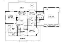 Country Floor Plan - Main Floor Plan Plan #929-15