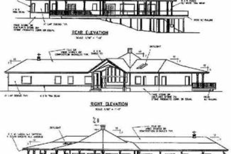 Traditional Exterior - Rear Elevation Plan #60-469 - Houseplans.com
