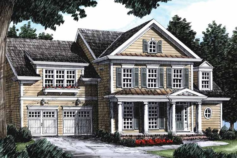 Classical Exterior - Front Elevation Plan #927-616 - Houseplans.com