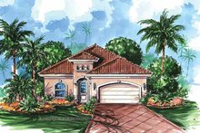 Country Exterior - Front Elevation Plan #1017-18