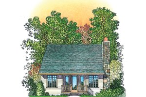 Architectural House Design - Country Exterior - Rear Elevation Plan #1016-110