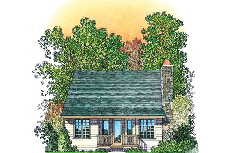 Country Exterior - Rear Elevation Plan #1016-110 - Houseplans.com